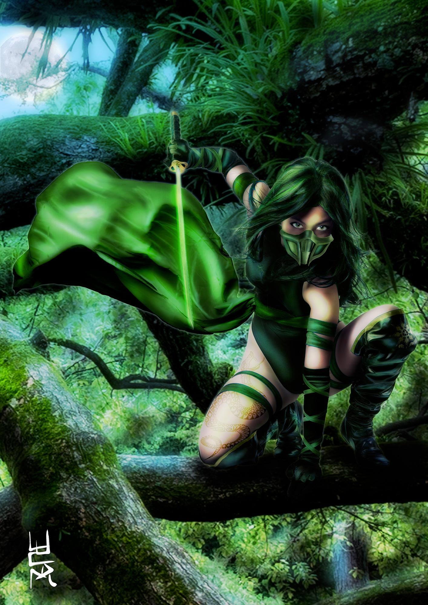 Green Ninja General For Musha Shugyo  Ninja Saga