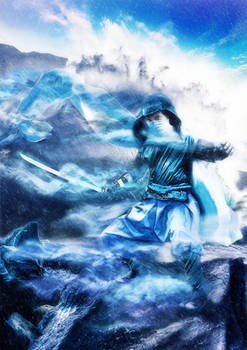 Blu Ninja General For Musha Shugyo Ninja Saga