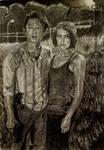 Glenn and Maggie by runawaycar09