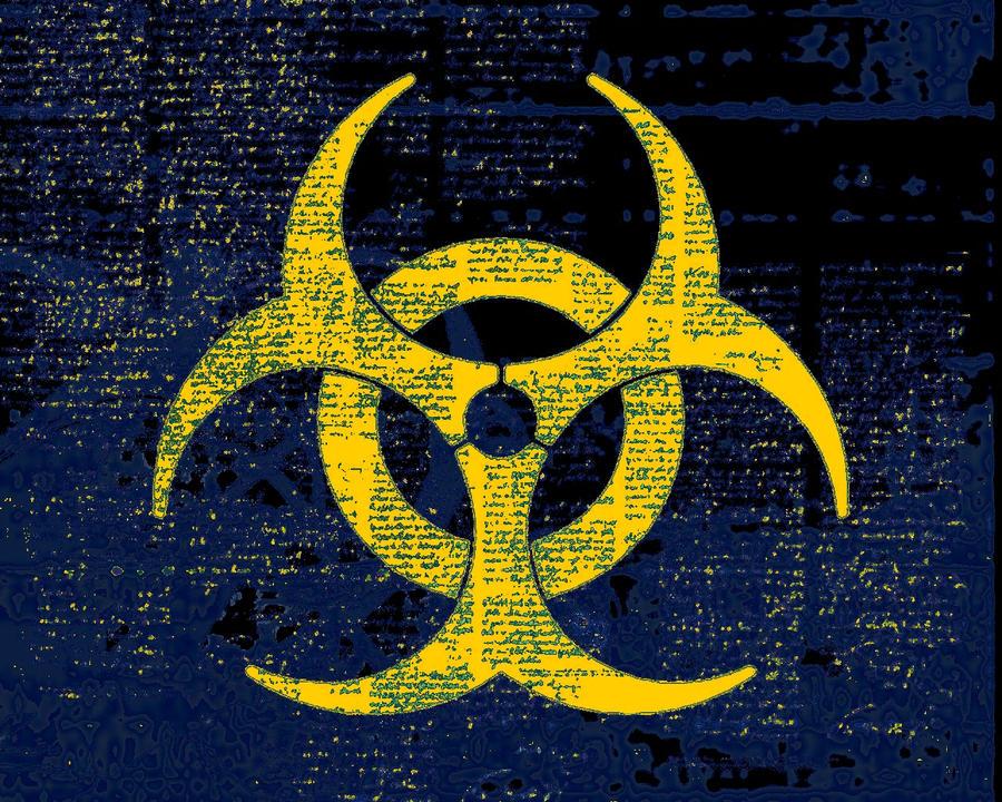 gallery for blue biohazard wallpaper