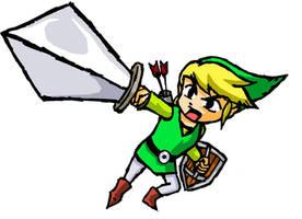 Zelda Wind Waker - Datel Art by LarryBundyJr