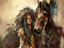 Indian babe - powered by horse by soundbeing