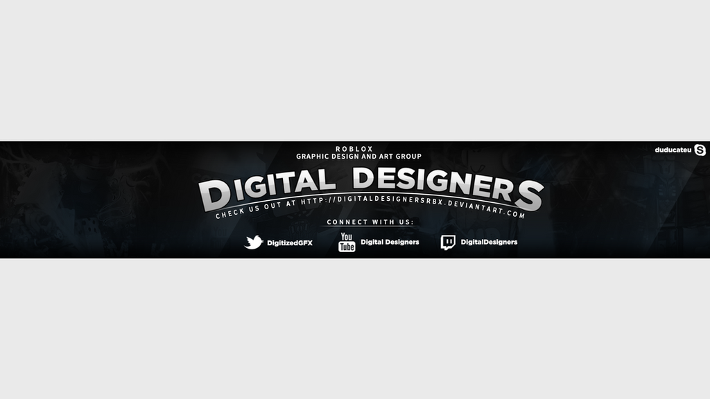 Digital Designers YouTube Banner by duducateu on DeviantArt