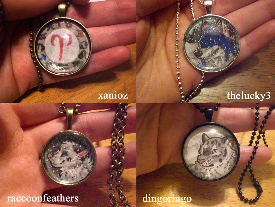 Necklaces batch 1 by thelunacy-fringe