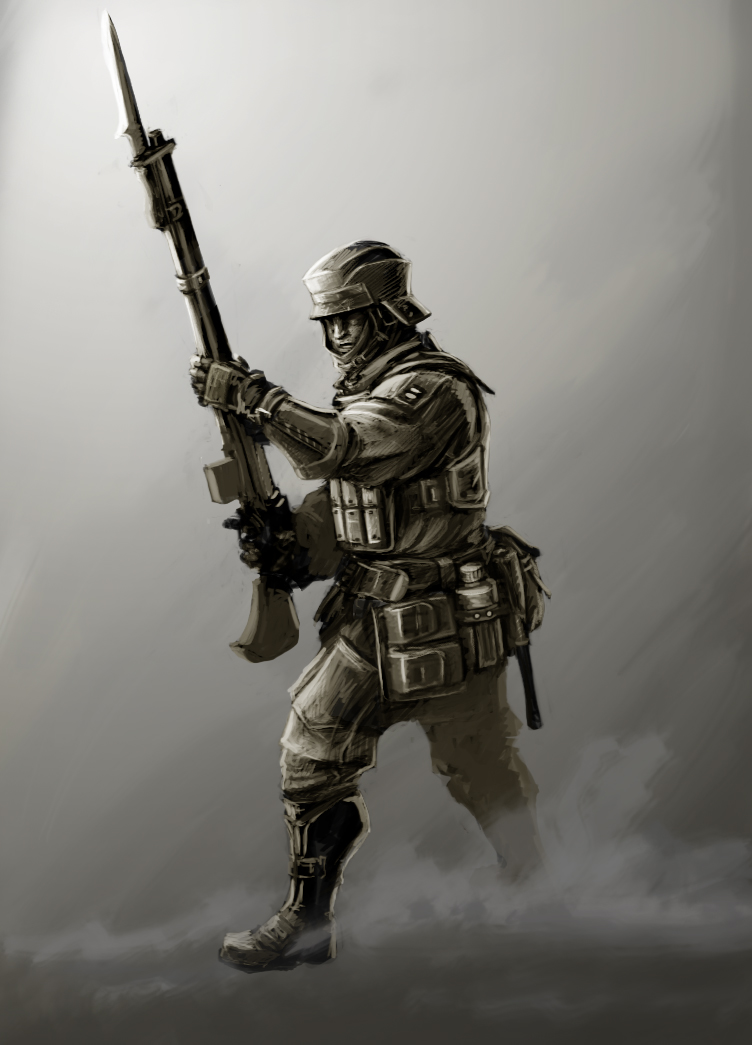 Soldier Concept by NeilBlade