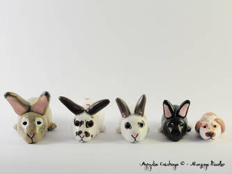 Custom rabbits - loving bunnies by AnimalisCreations