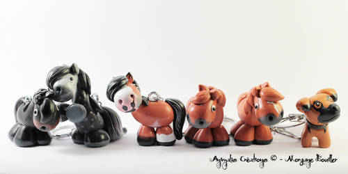 Custom horses and dog by AnimalisCreations