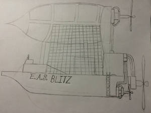 Steampunk Style Airship