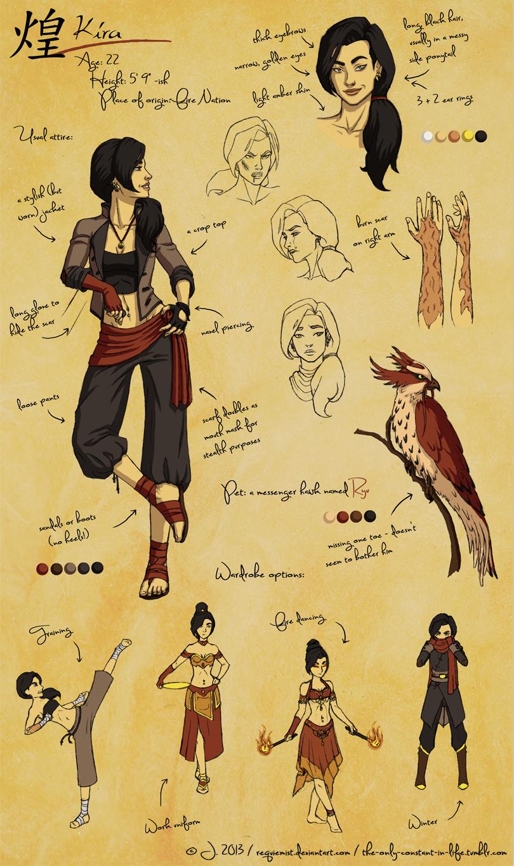 Character Design: Kira (Legend of Korra) by requiemist on deviantART