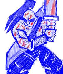 Old Work-Blue Bloody Warrior