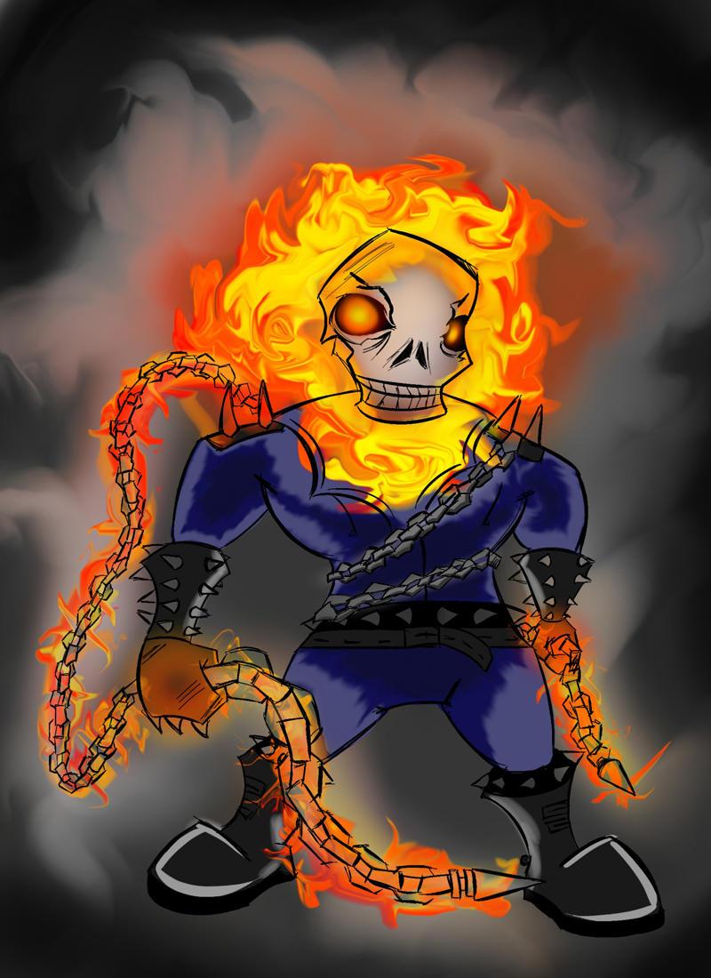 Chibi Ghost Rider by DynamiteKnight on DeviantArt