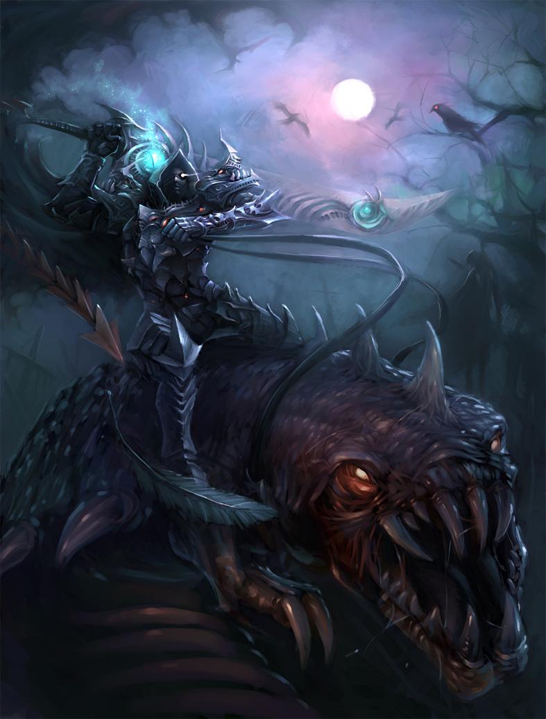 Dark knight by redpeggy