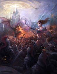 Dragon War by redpeggy