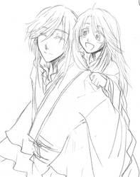 Saiunkoku - Seien and Ryuuki by majochan