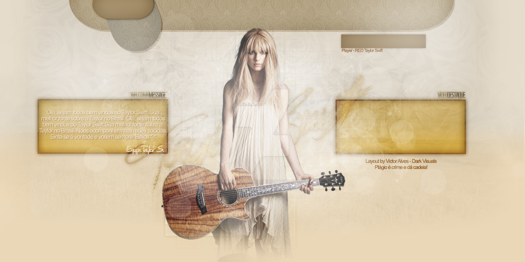Taylor Swift Header - Portfolio by DarkVisuals