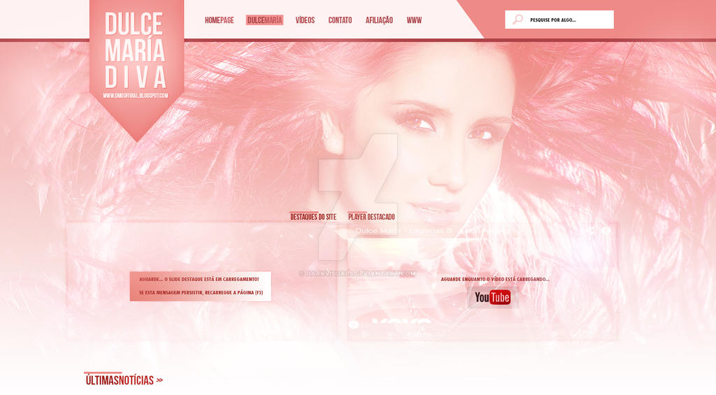 Dulce Maria Fan Site Header - Portfolio by DarkVisuals