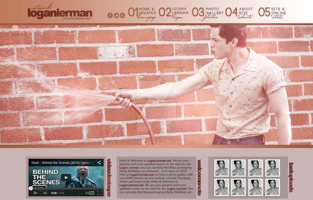 Logan Lerman Fansite Header - Portfolio by DarkVisuals