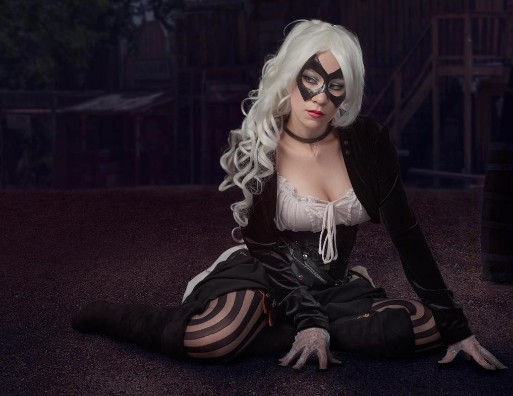 Saloon Black Cat by KayLynn-Syrin