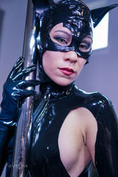 Latex Catwoman by KayLynnSyrin
