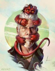 Hellboy by avvart