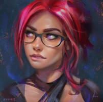 Red hair avvart
