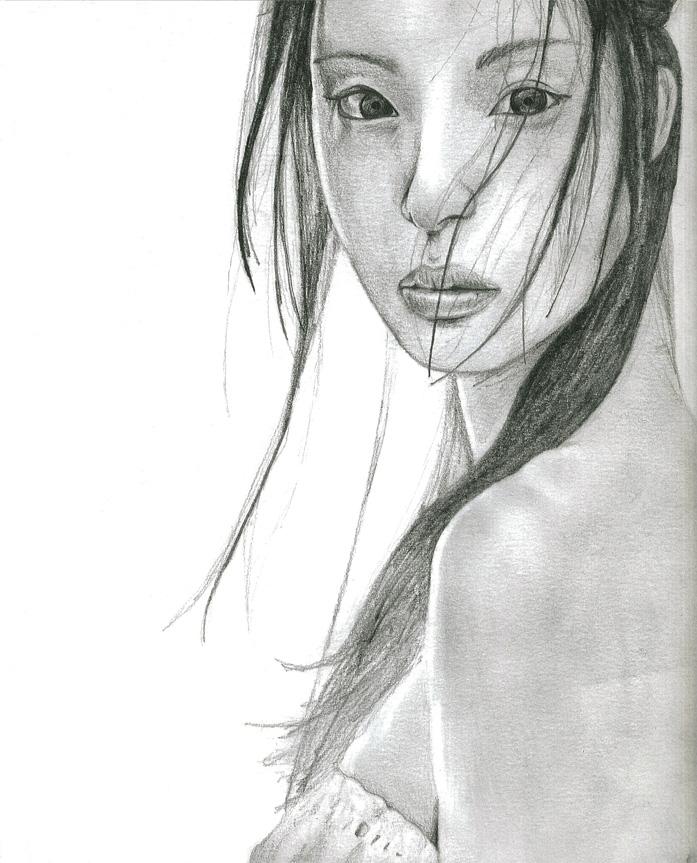 Asian girl drawings art