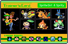 TrainerCard SpriteGirl Sprity by SpriteGirl