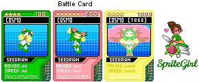 Cosmo New Battle Cards by SpriteGirl