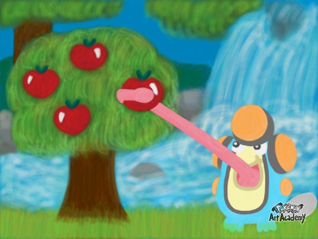 Pokemon Art Academy - Oranblue, the Palpitoad by SpriteGirl