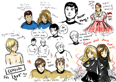 Sketches (new B1A4 song and Star Trek)