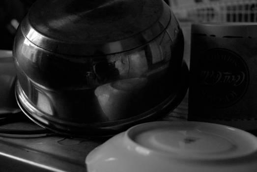 autoportrait dans la casserole