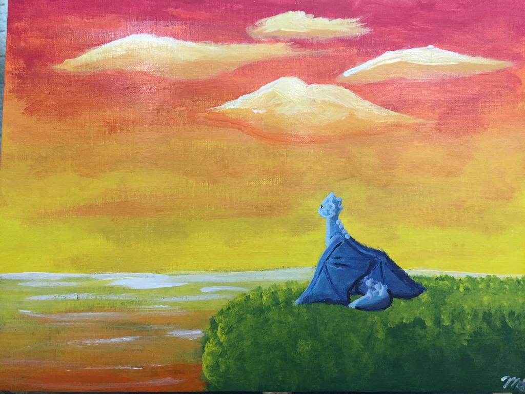 The Blue Dragon by SandstormAwsomeness