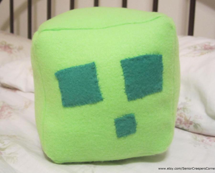 Minecraft Slime Plush by colbyjackchz