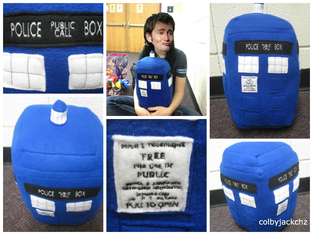 TARDIS Plush by colbyjackchz
