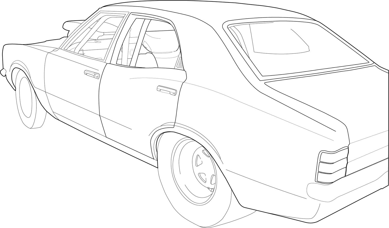holden torana sketch coloring page