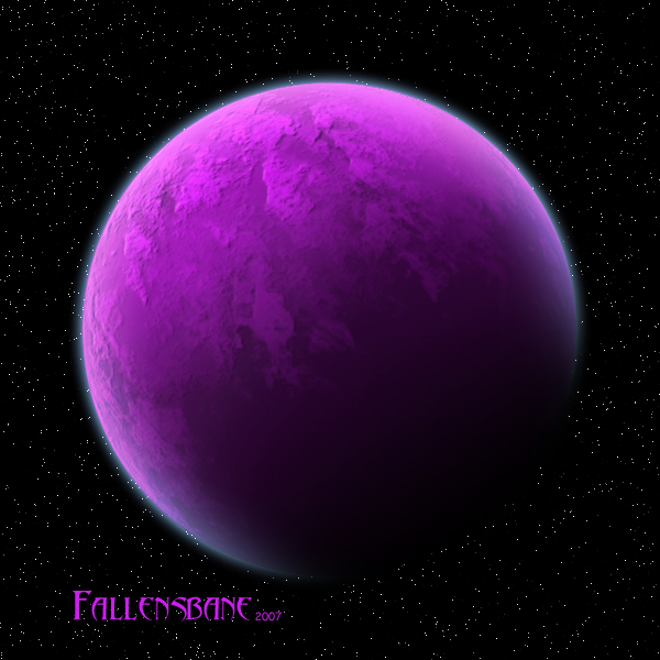 Art Purple Planet Artwork