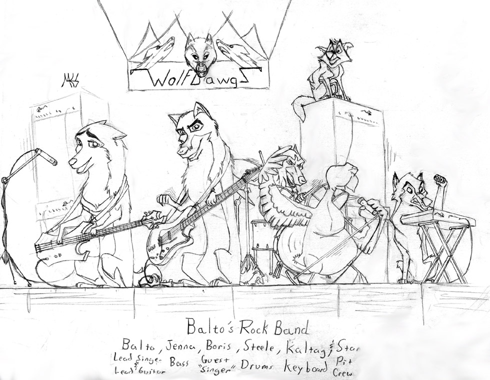 Balto rock band by dragonwolface on deviantart for Rock band coloring pages