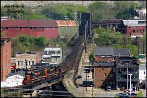 Bellaire railroad bridge by DragonWolfACe