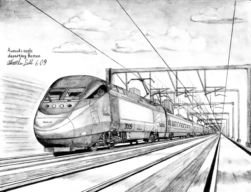 tlc how to draw a bullet train