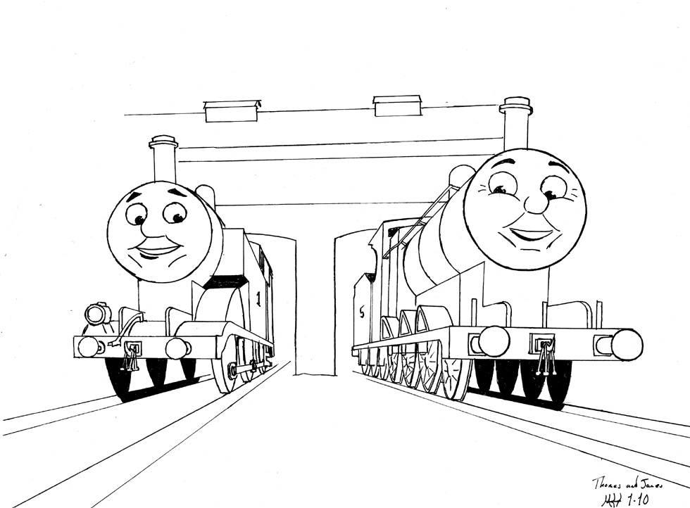 Thomas and James resting by DragonWolfACe on DeviantArt