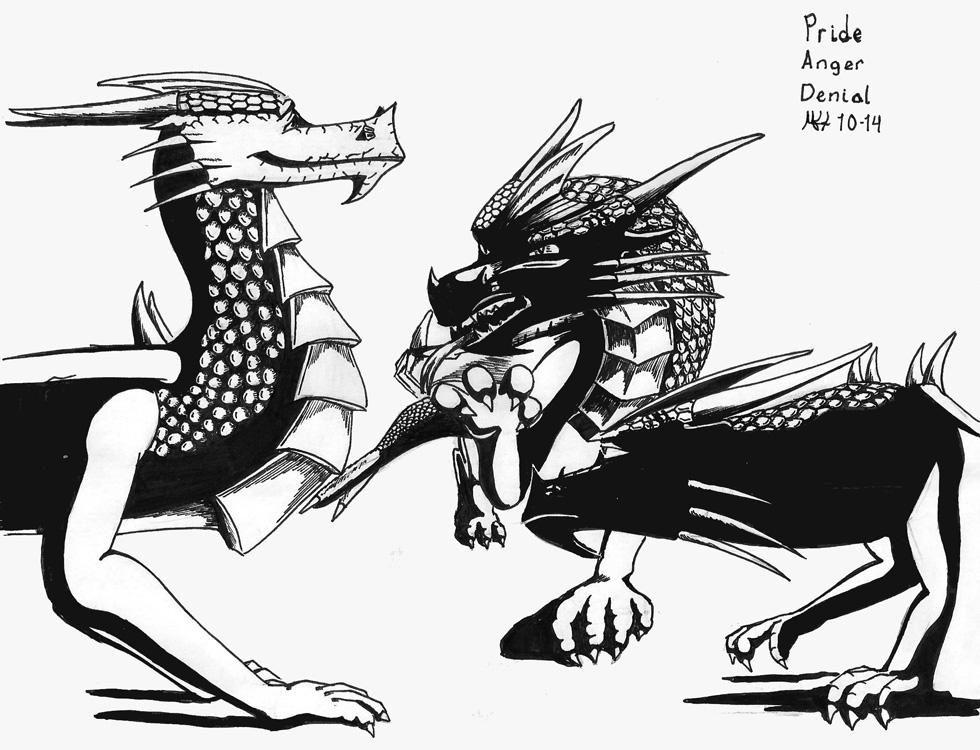 Three Dragons by DragonWolfACe