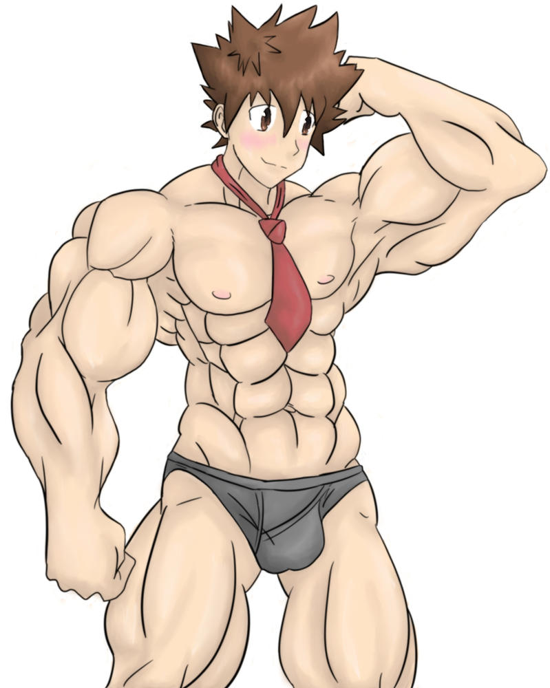 Buff Tsuna by paintedpaper