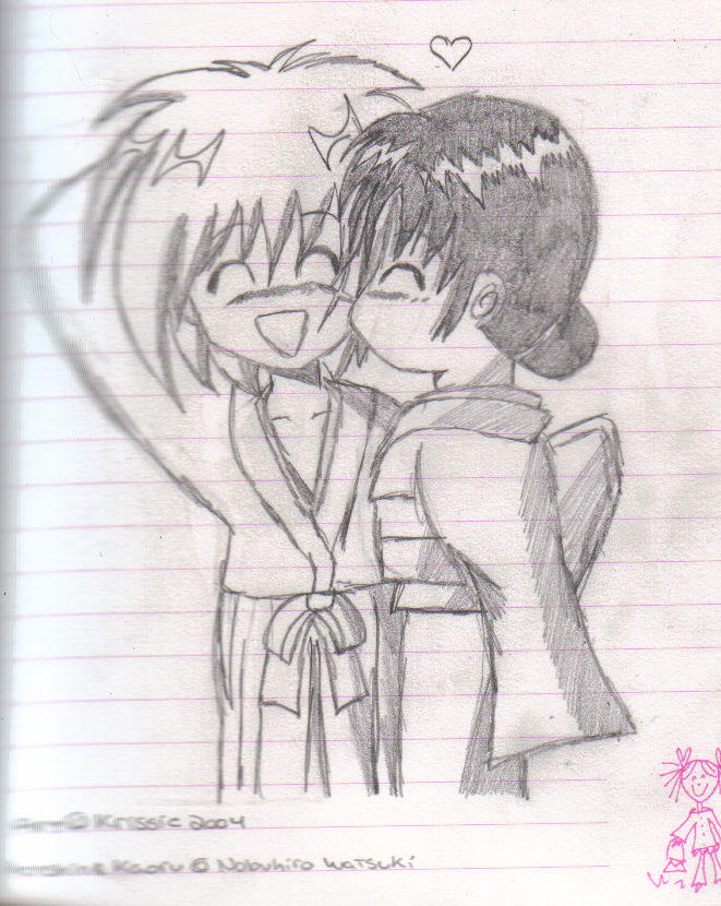 Kenshin and Kaoru kiss by fairies-r-real on DeviantArt