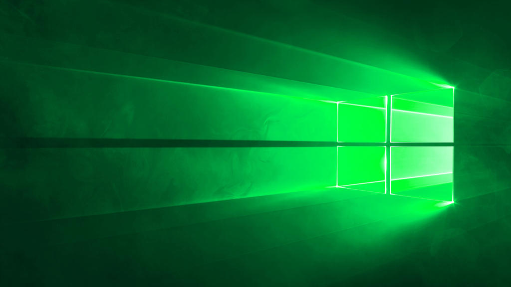 microsoft windows 10 default wallpaper green by