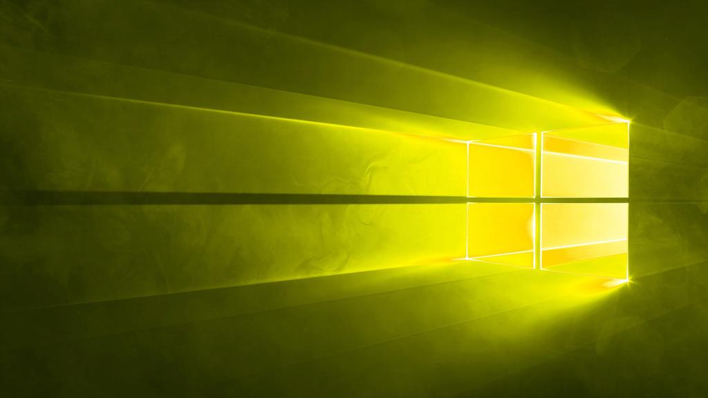 Microsoft Windows 10 Default Wallpaper Yellow By