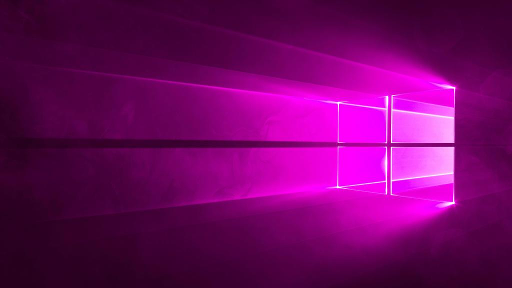 Microsoft Windows 10 Default Wallpaper Purple By