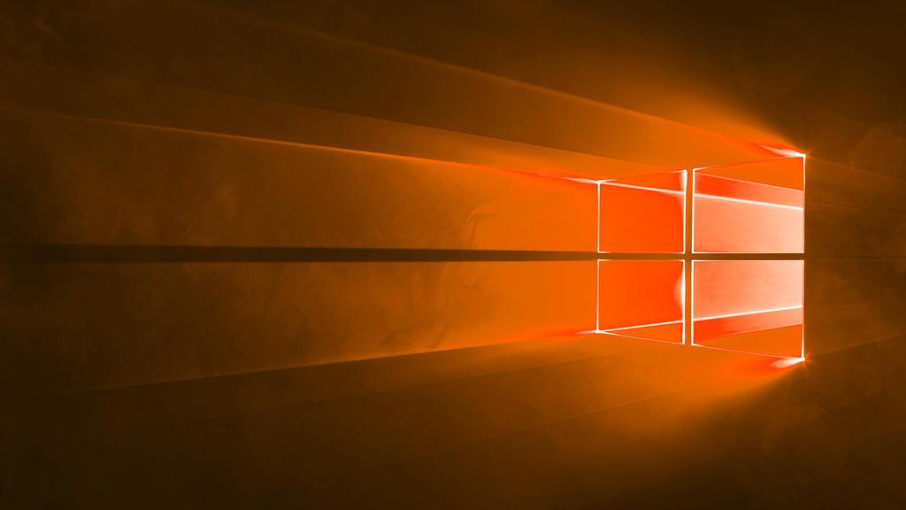Microsoft Windows 10 Default Wallpaper Orange By