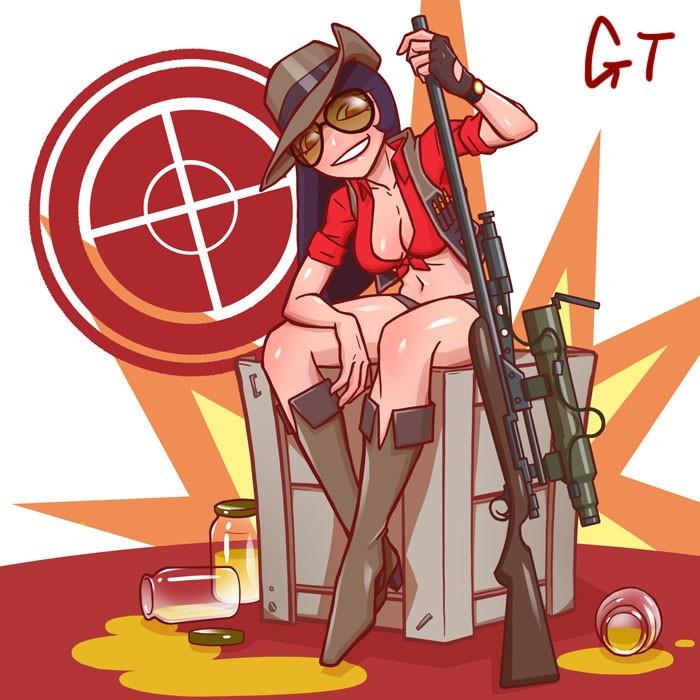 http://orig01.deviantart.net/0ff2/f/2013/259/b/2/tf2_female_sniper_by_gotwin9008-d6mjn91.jpg