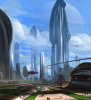 Utopian City I by artofchirag