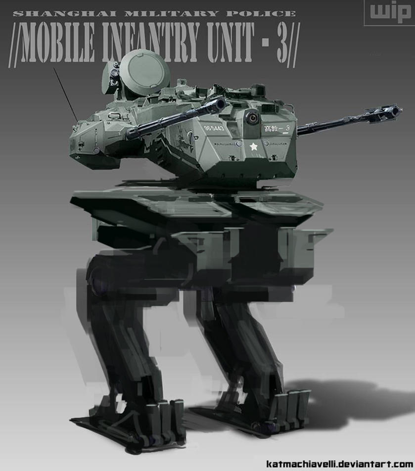 Mech WIP - Mobile Infantry Unit Shanghai MP by katmachiavelli